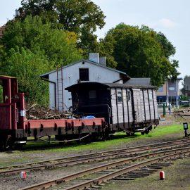 Wagony na stacji kolejowej